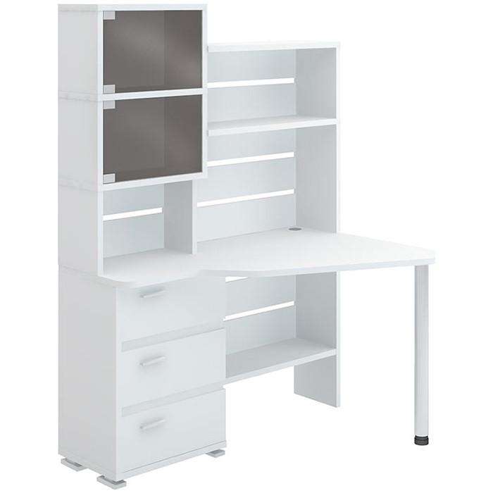 Фото - Стол компьютерный МЭРДЭС СР-322 БЕ-ПРАВ белый стол компьютерный мэрдэс ср 132 бе прав белый