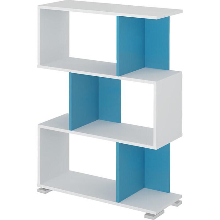 Cтеллаж МЭРДЭС СЛ-5-3 БЕСИ белый/синий