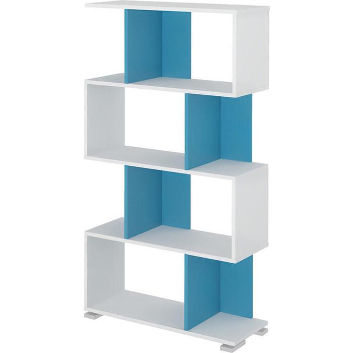 Cтеллаж МЭРДЭС СЛ-5-4 БЕСИ белый/синий