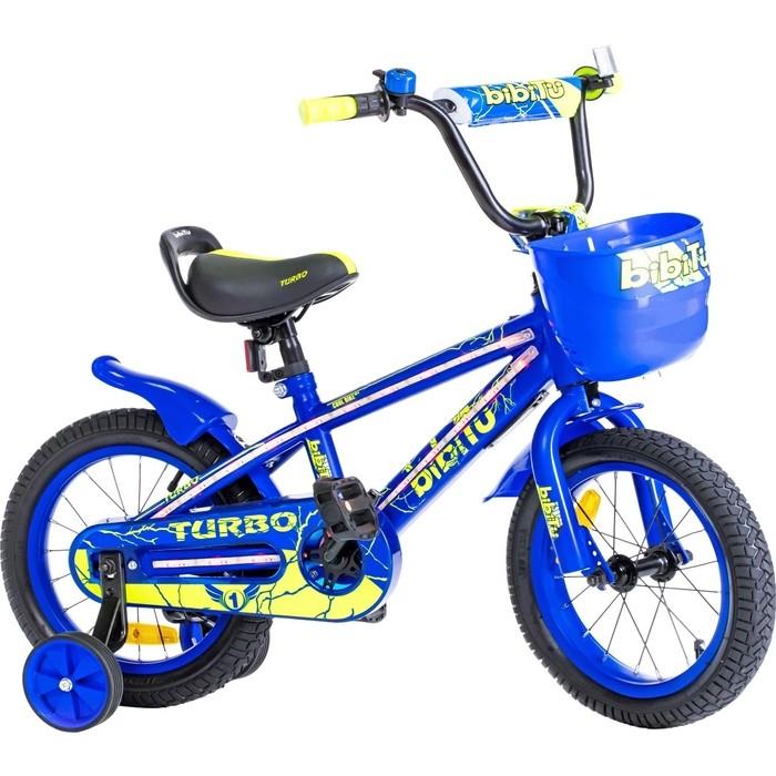 Велосипед BIBITU 14 TURBO, голубой