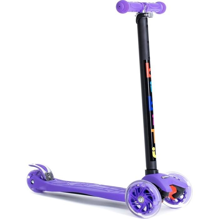 Трехколесный самокат BIBITU материал - металл/пластик CAVY SKL-07, фиолетовый
