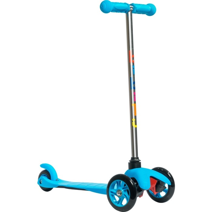 Трехколесный самокат BIBITU материал - металл/пластик SWEET SKL-06A, голубой