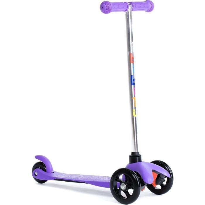 Трехколесный самокат BIBITU материал - металл/пластик SWEET SKL-06A, фиолетовый