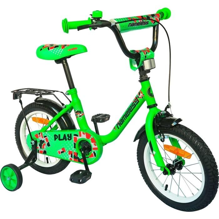 Велосипед Nameless 14 PLAY, зеленый/черный
