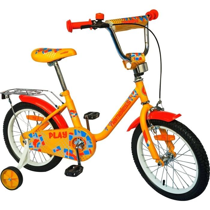 Велосипед Nameless 16 PLAY, желтый/оранжевый