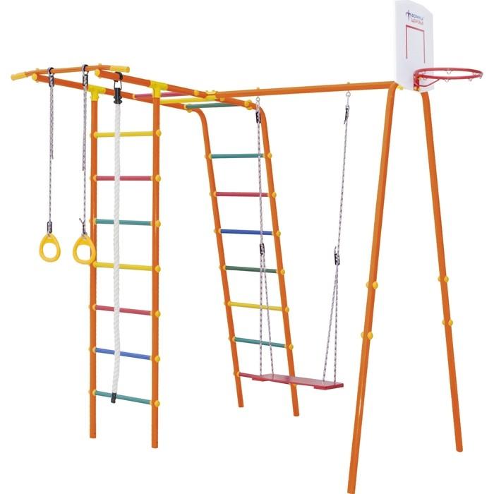 Детский спортивный комплекс Формула здоровья Street 1 Smile оранжевый радуга