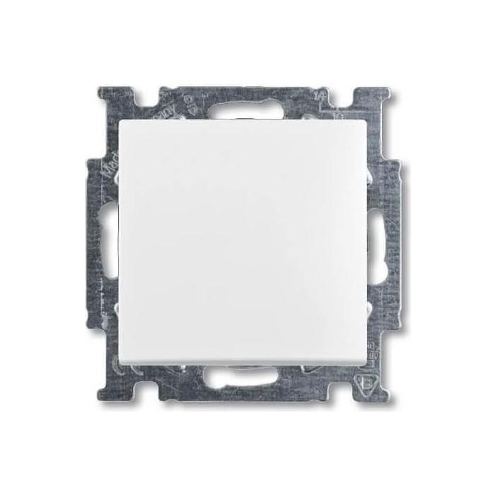 Выключатель ABB кнопочный одноклавишный Basic55 10A 250V альпийский белый
