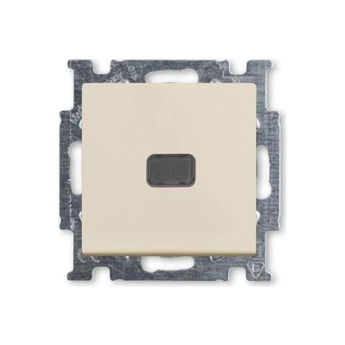 Выключатель ABB одноклавишный Basic55 10A 250V с подсветкой слоновая кость