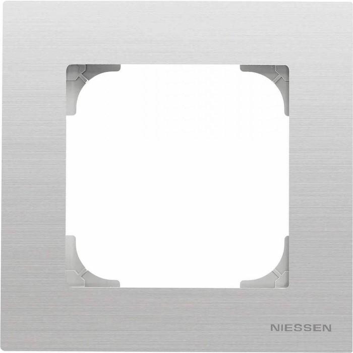 Рамка ABB 1-постовая Sky нержавеющая сталь