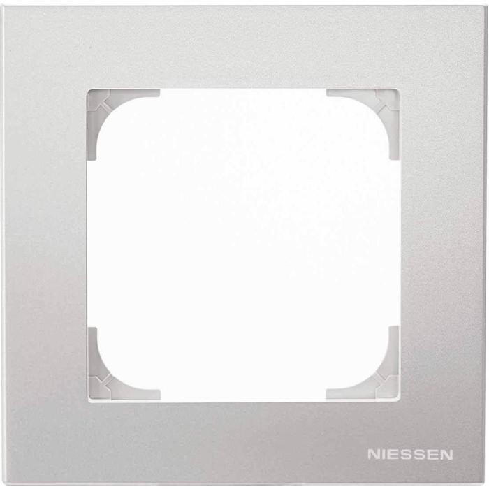 Рамка ABB 1-постовая Sky серебристый алюминий