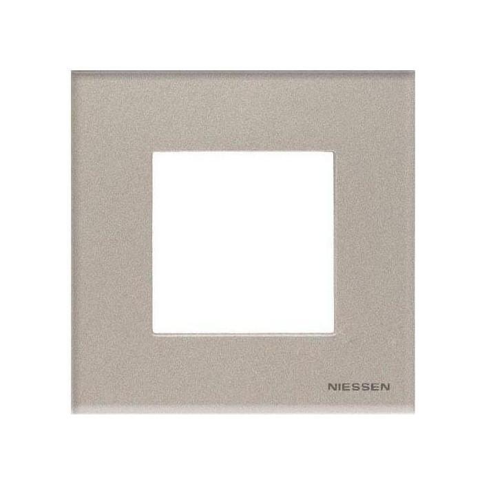 Рамка ABB 1-постовая Zenit стекло брызги шампанского