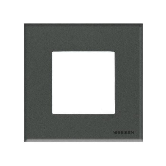 Рамка ABB 1-постовая Zenit стекло графит