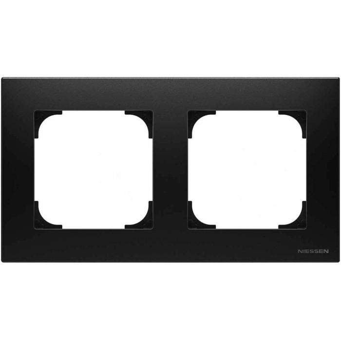 Рамка ABB 2-постовая Sky чёрный бархат рамка abb 2 постовая sky чёрный бархат