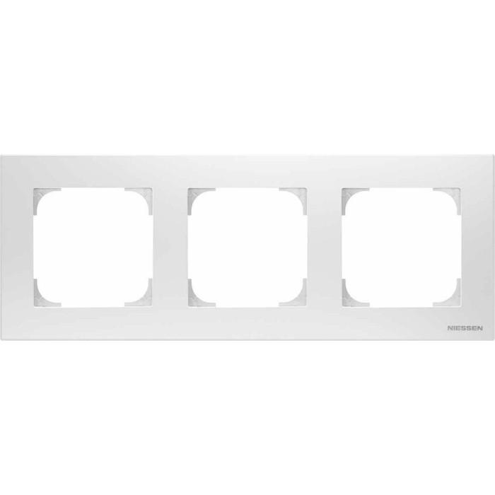 Рамка ABB 3-постовая Sky альпийский белый