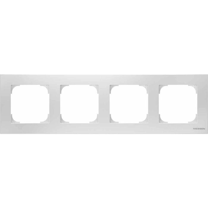 Рамка ABB 4-постовая Sky альпийский белый
