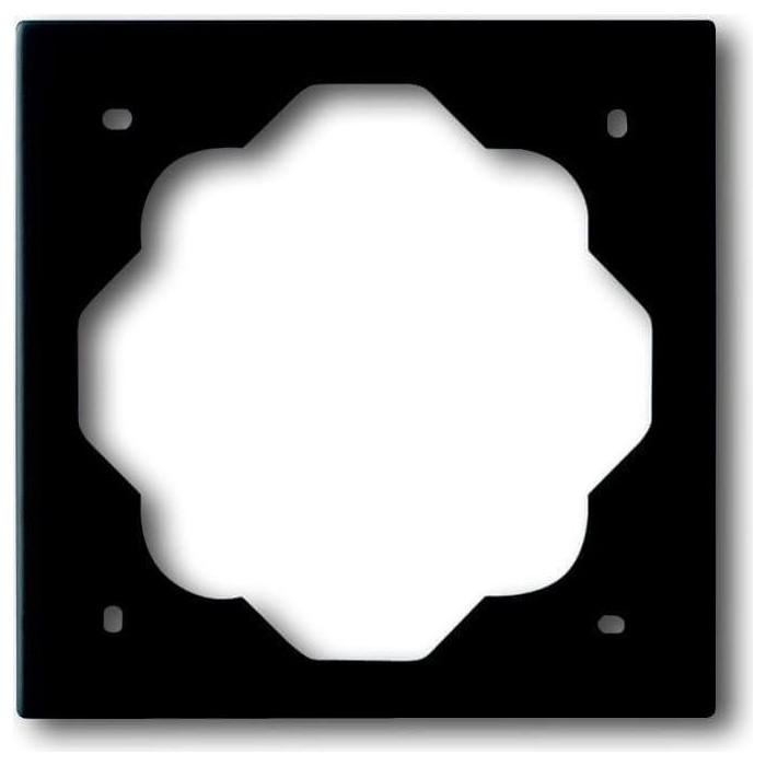 Рамка ABB 1-постовая Impuls чёрный бархат