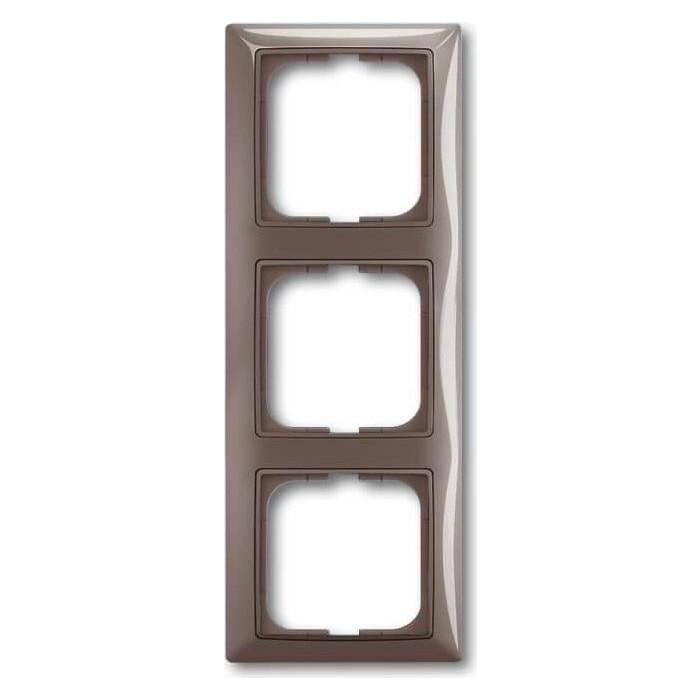 Рамка ABB 3-постовая Basic55 entree - серый