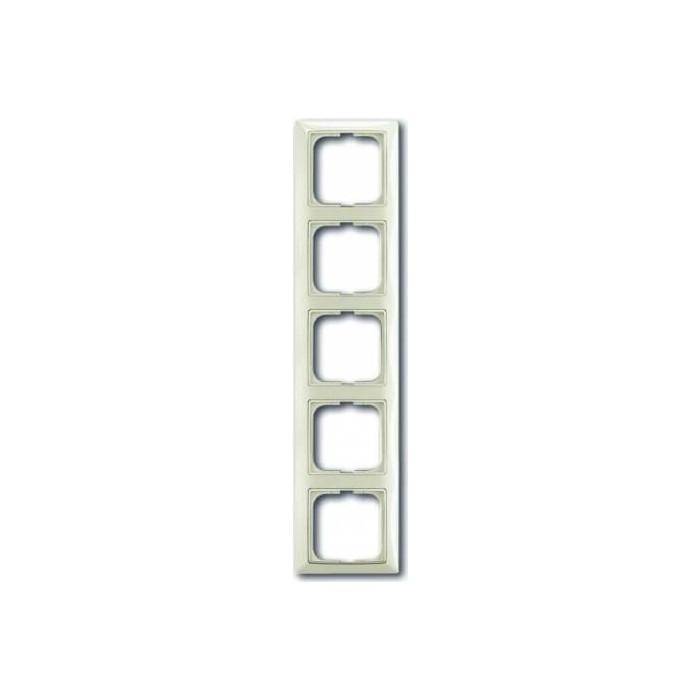 Рамка ABB 5-постовая Basic55 chalet - белый