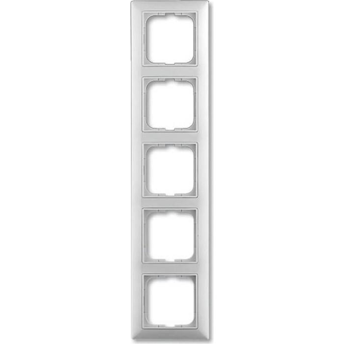 Рамка ABB 5-постовая Basic55 альпийский белый