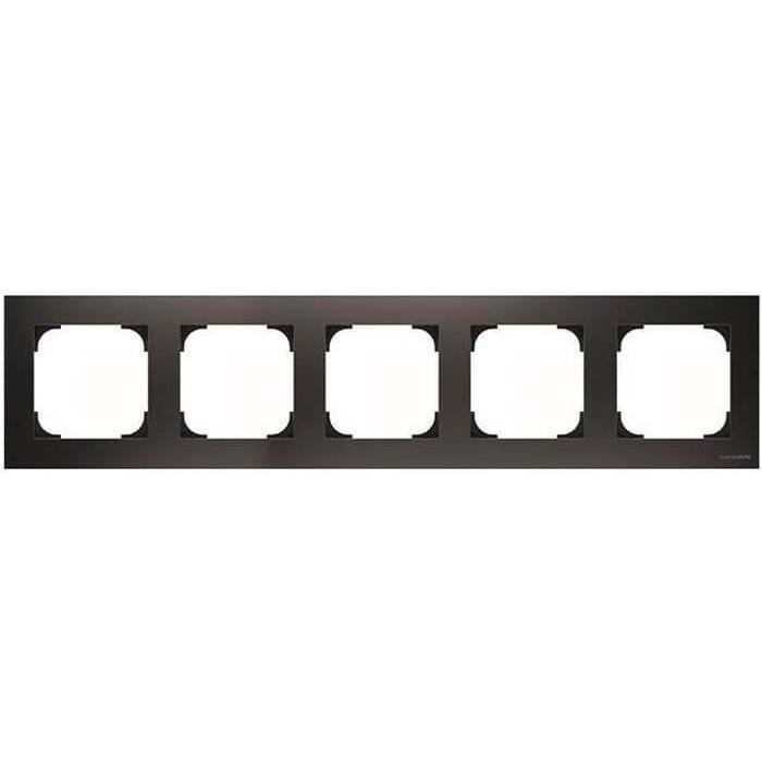 Рамка ABB 5-постовая SKY Чёрный бархат рамка abb 2 постовая sky чёрный бархат