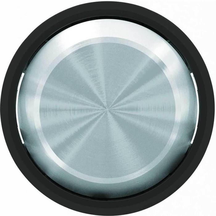 Лицевая панель ABB Sky Moon выключателя одноклавишного стекло чёрное