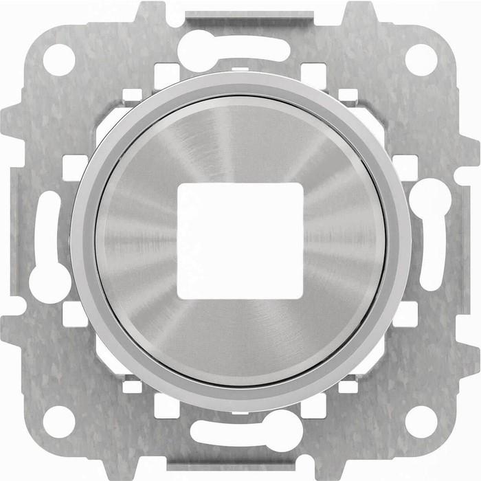 Лицевая панель ABB Sky Moon розетки USB хром