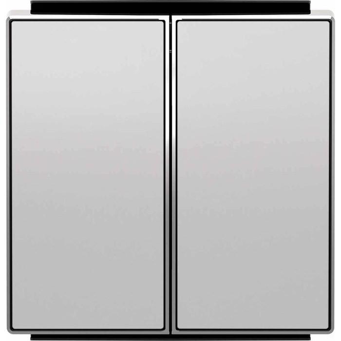 Лицевая панель ABB Sky выключателя двухклавишного серебристый алюминий