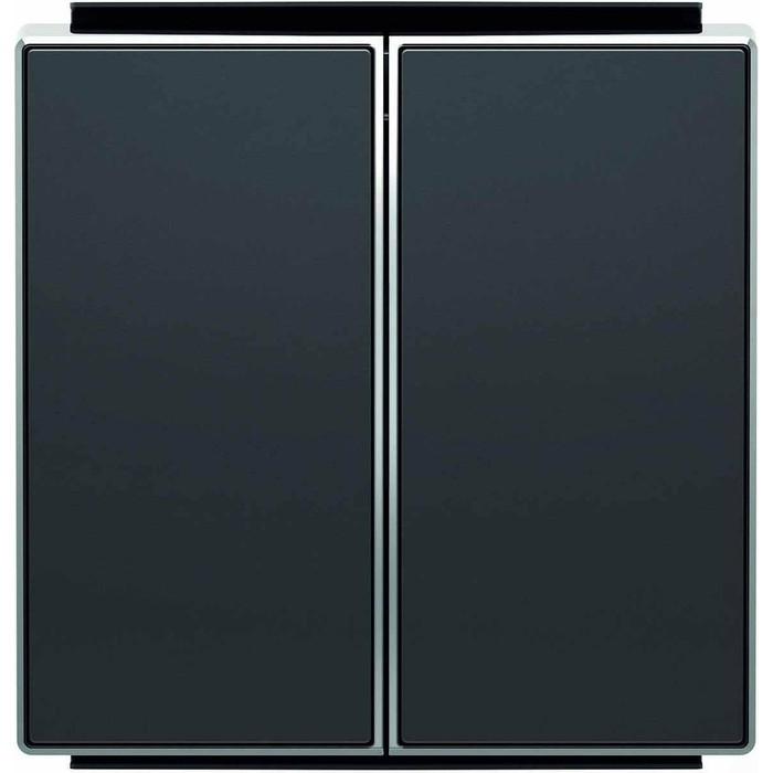 Лицевая панель ABB Sky выключателя двухклавишного чёрный бархат