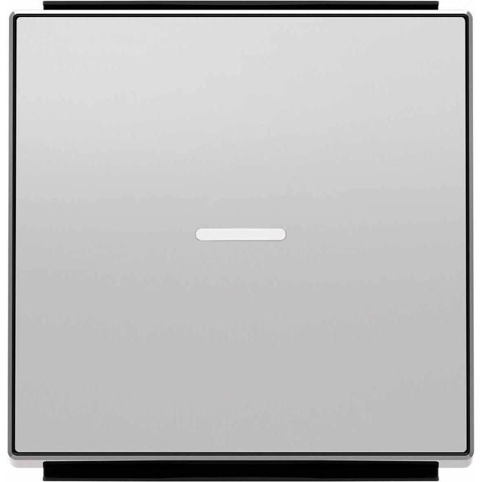Фото - Лицевая панель ABB Sky выключателя одноклавишного с подсветкой серебристый алюминий лицевая панель legrand valena allure для выключателя одноклавишного с подсветкой индикацией антрацит 755088