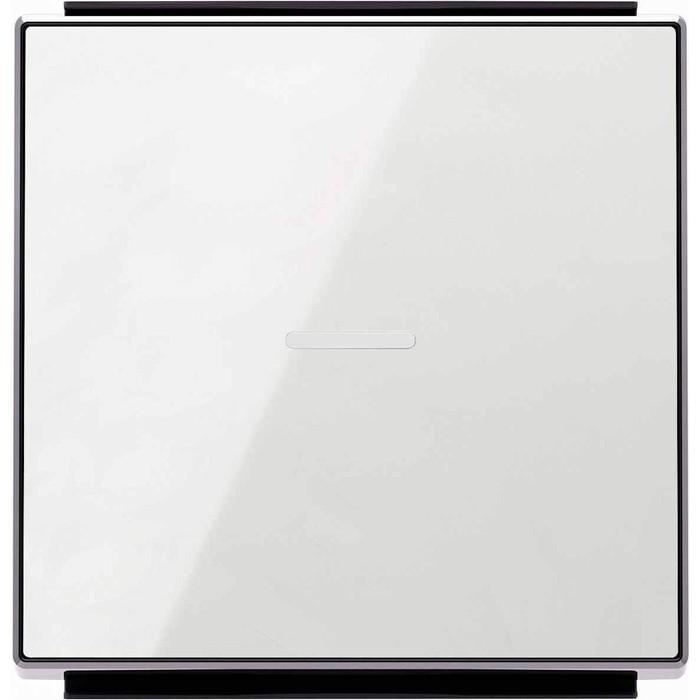 Фото - Лицевая панель ABB Sky выключателя одноклавишного с подсветкой стекло белое лицевая панель legrand valena allure для выключателя одноклавишного с подсветкой индикацией антрацит 755088