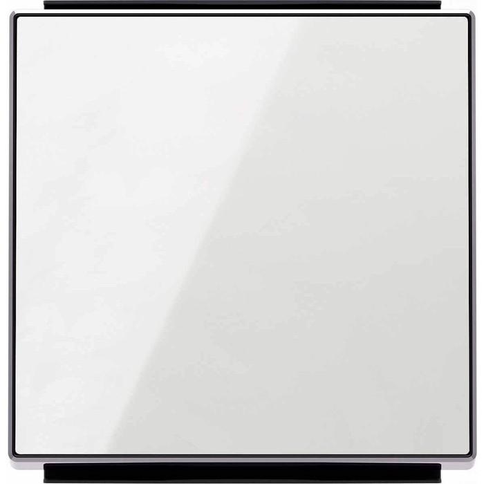 Лицевая панель ABB Sky выключателя одноклавишного стекло белое