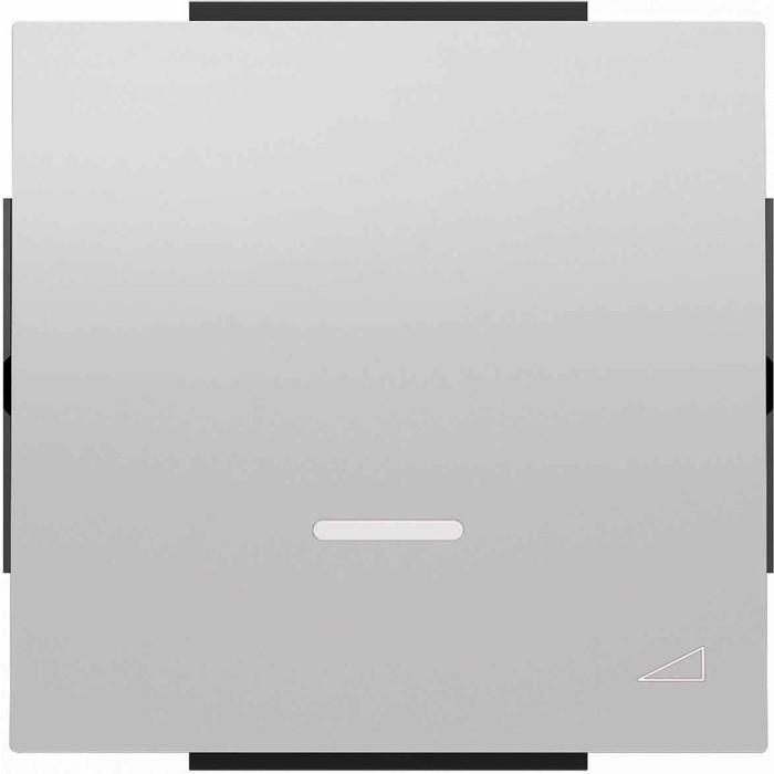 Лицевая панель ABB Sky диммера клавишного серебристый алюминий