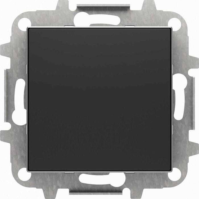 Лицевая панель ABB Sky заглушка чёрный бархат