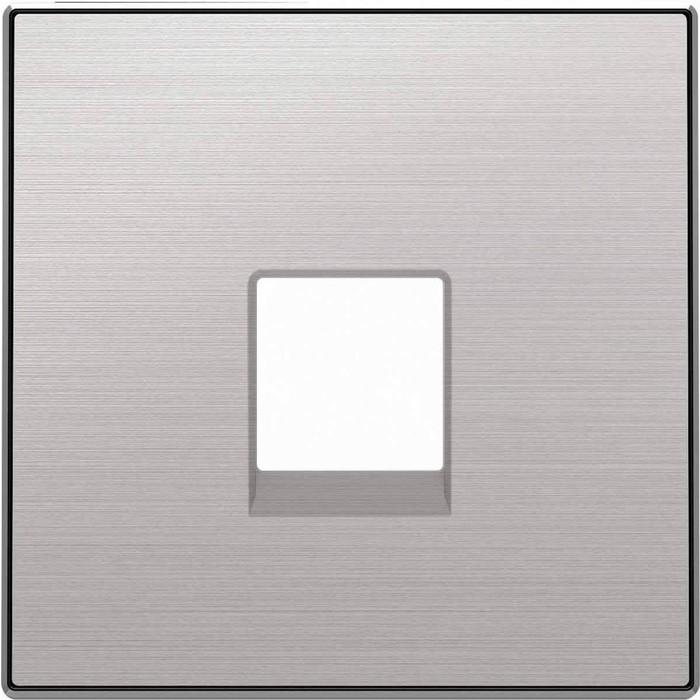 Лицевая панель ABB Sky розетки RJ12 нержавеющая сталь