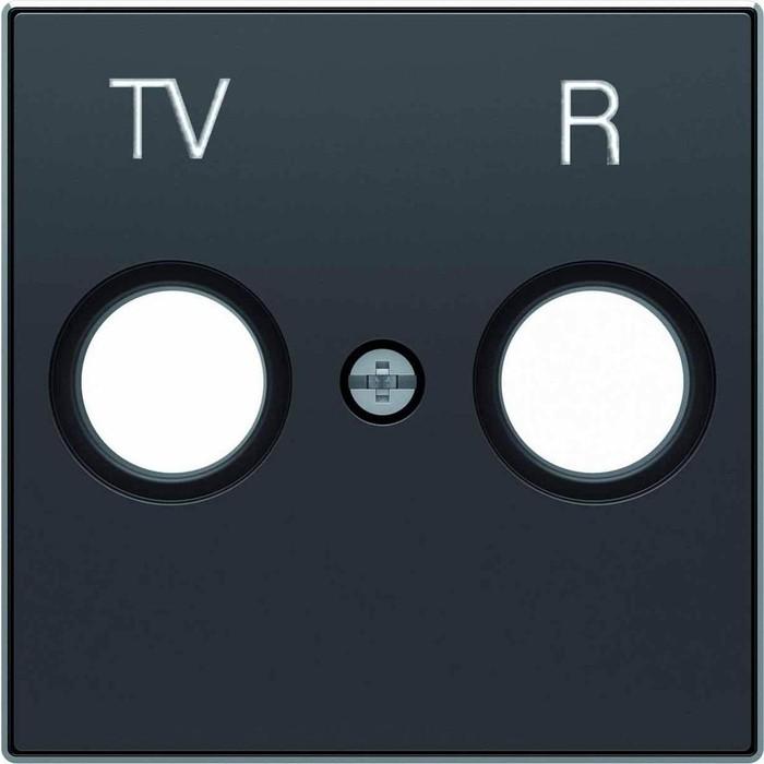 Лицевая панель ABB Sky розетки TV-R чёрный бархат