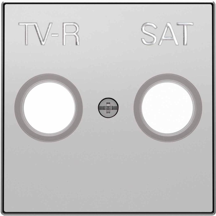 Лицевая панель ABB Sky розетки TV-R-SAT серебристый алюминий