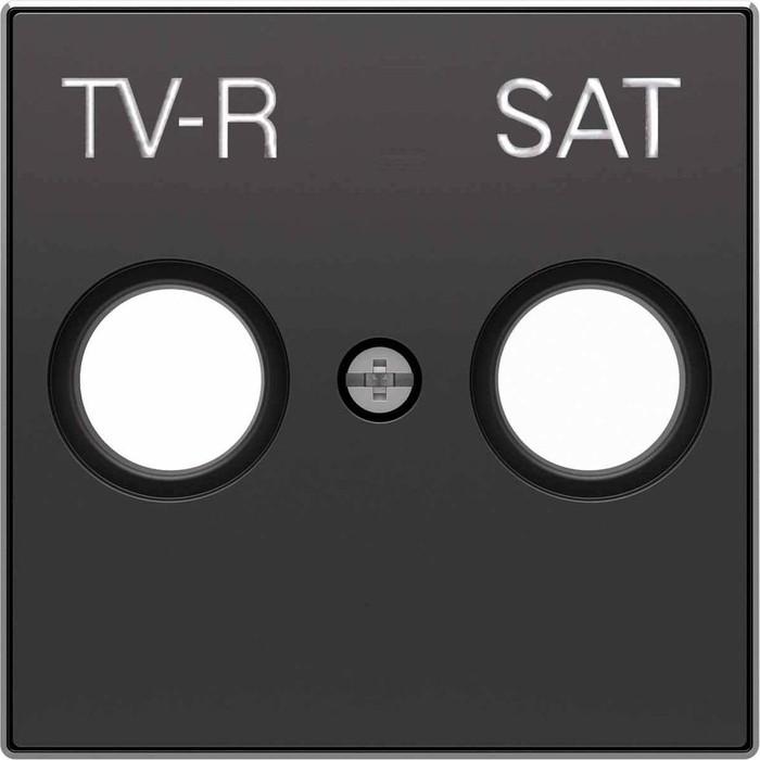 Лицевая панель ABB Sky розетки TV-R-SAT чёрный бархат