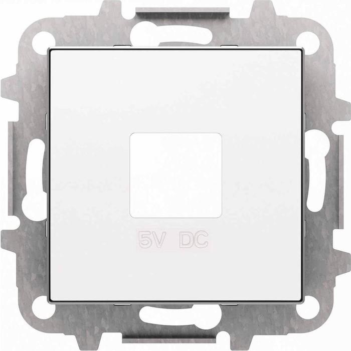 Лицевая панель ABB Sky розетки USB альпийский белый