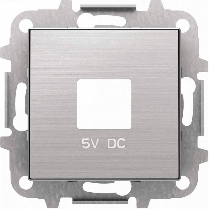 Лицевая панель ABB Sky розетки USB нержавеющая сталь