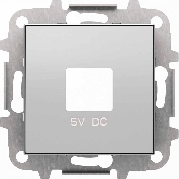 Лицевая панель ABB Sky розетки USB серебристый алюминий