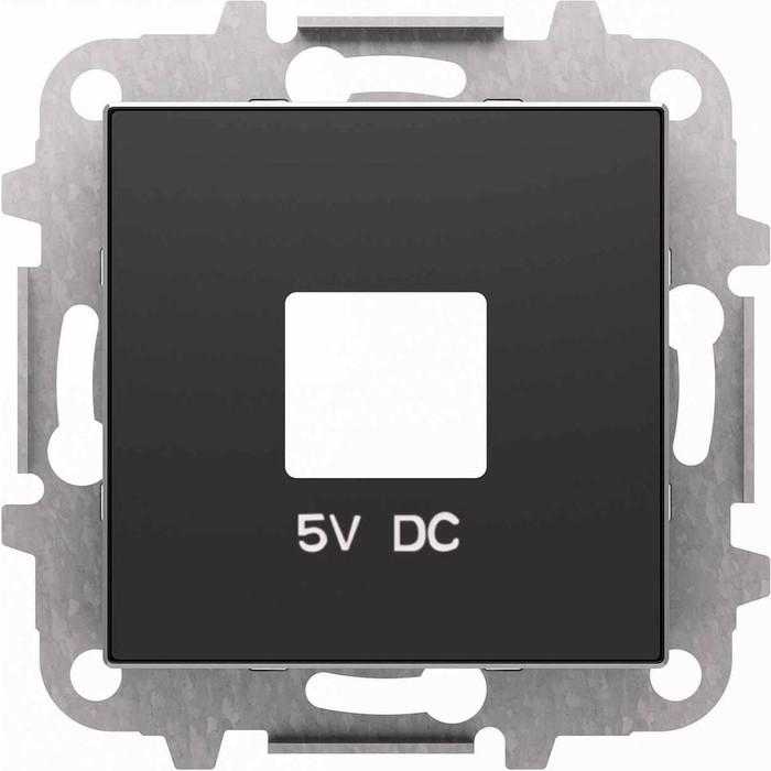 Лицевая панель ABB Sky розетки USB чёрный бархат