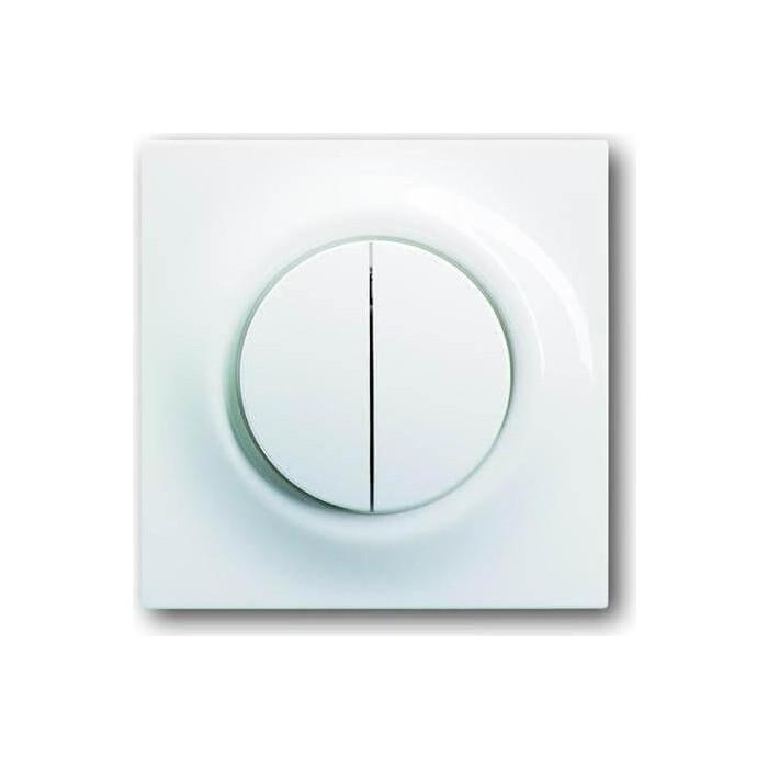 Лицевая панель ABB Impuls выключателя двухклавишного альпийский белый