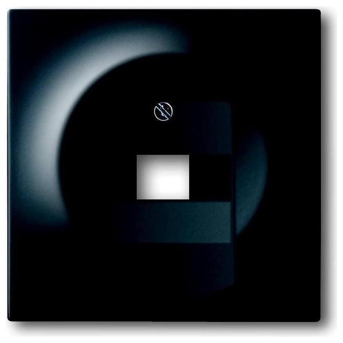 Лицевая панель ABB Impuls розетки UAE чёрный бархат