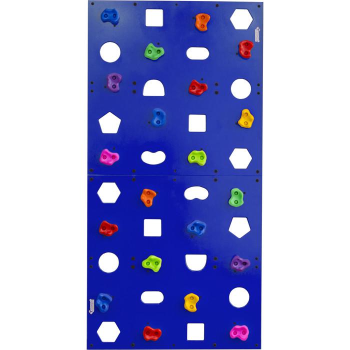 Скалодром Формула здоровья пристенный 1000*2000 стандарт ЭЛЬБРУС с отверстиями синий
