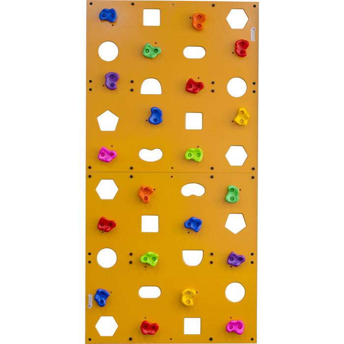 Скалодром Формула здоровья пристенный 1000*2000 стандарт ЭЛЬБРУС с отверстиями жёлтый