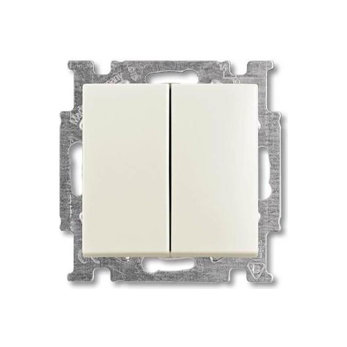 Переключатель ABB двухклавишный Basic55 10A 250V слоновая кость (2CKA001012A2151)