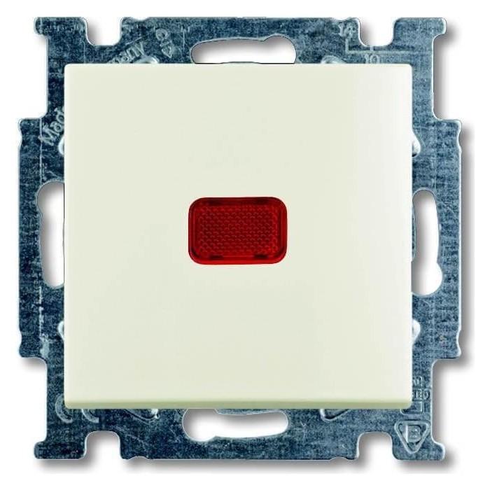 Переключатель ABB одноклавишный Basic55 10A 250V с подсветкой chalet - белый (2CKA001012A2190)