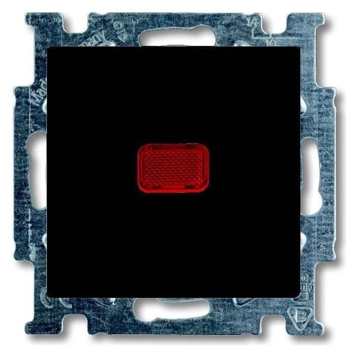 Переключатель ABB одноклавишный Basic55 10A 250V с подсветкой chateau - черный (2CKA001012A2180)