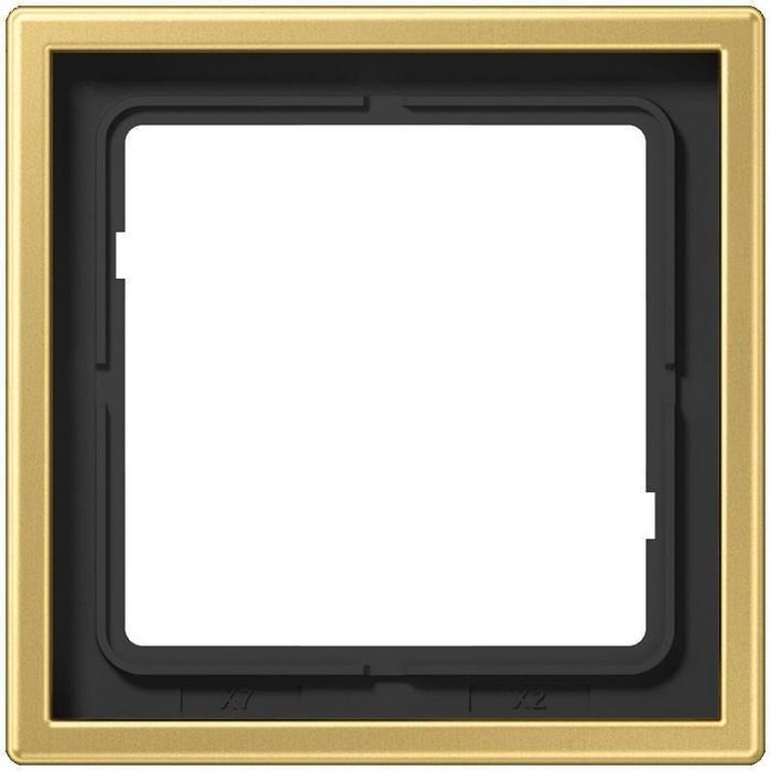 Рамка Jung 1-постовая LS 990 латунь classic ME2981C