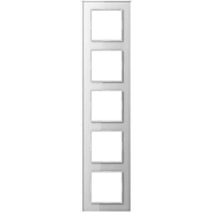 Рамка Jung 5-постовая A creation стекло белое AC585GLWW